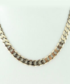 Gold Curb Link Chain 20