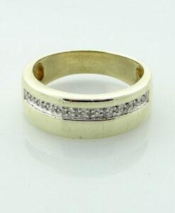 Gent's 9ct Gold Diamond Band Ring