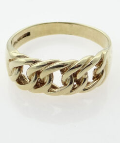 Men's 9ct Gold Chain Link Ring