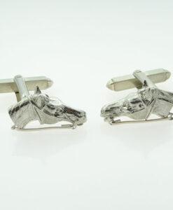 Sterling Silver Horse Cufflinks