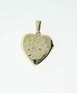 Vintage Georg Jensen 9ct Gold Heart Locket 1972