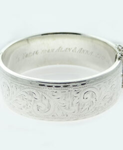Vintage 1960's Sterling Silver Bangle by Walker and Hall