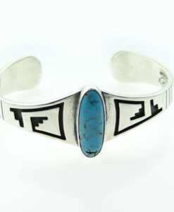 Sterling Silver Navajo Turquoise Bangle