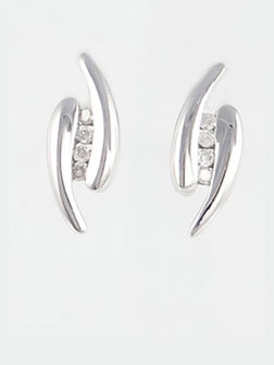 White Gold Earrings Jewellery Uk