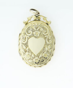 Antique 9ct Gold Back and Front Oval Picture Locket
