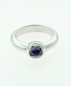 Authentic Tiffany & Co. 18ct White Gold Amethyst Ring