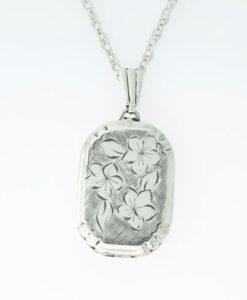 Vintage Sterling Silver Floral Locket by Georg Jensen