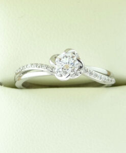 Maple Leaf Diamonds 18ct White Gold Diamond Solitaire Ring .41ct