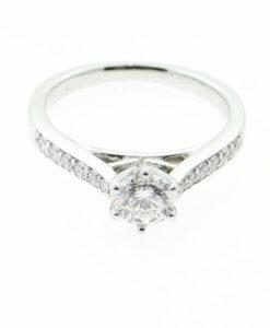 PLATINUM BRILLIANT CUT 0.65ct 88 FACET DIAMOND RING