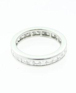 Platinum 2.20ct Asscher Diamond Full Eternity Ring