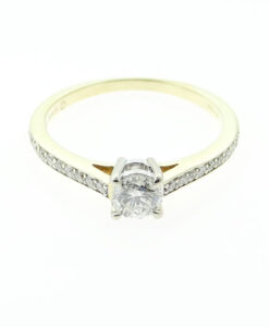 18ct Gold Canadian Ice Diamond Solitaire Ring