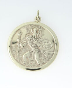 9ct Gold Saint Christopher Pendant 26mm