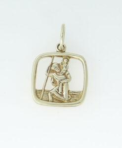 9ct Gold Saint Christopher Pendant