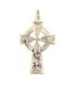 Vintage 9ct Gold Engraved Celtic Cross