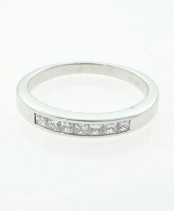 18ct White Gold Princess Cut Diamond Seven Stone Ring