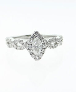 Neil Lane 14ct White Gold .87ct Diamond Marquise Cluster Ring