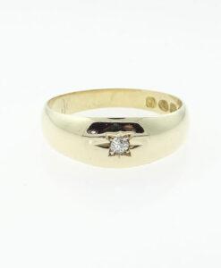 Victorian 18ct Gold Diamond Gypsy Ring Hallmarked Chester 1890