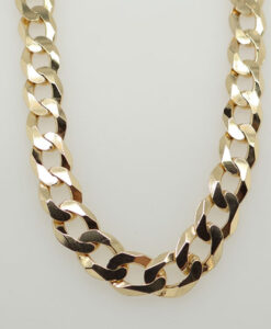 9ct Gold Curb Link Chain 22
