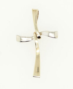 Contemporary 9ct Solid Gold Cross