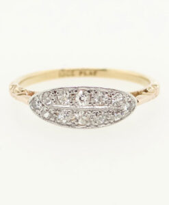 Vintage 18ct Gold and Platinum Diamond Cluster Ring
