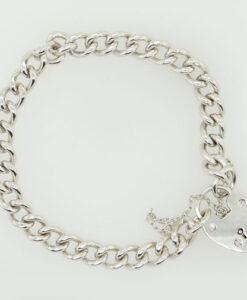 Vintage Sterling Silver Curb Link Bracelet Hallmarked 1994