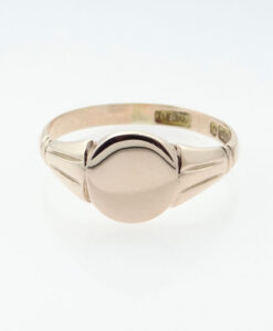 Antique 9ct Rose Gold Signet Ring - Birmingham 1919