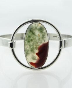 Silver Agate Bangle by Malcolm Gray, Ortak Silvercraft