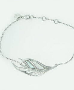Shaun Leane Silver, Diamond & Mother of Pearl Feather Bracelet