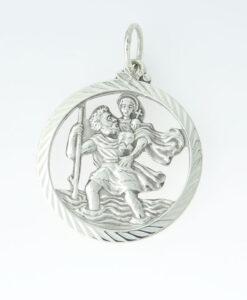 Sterling Silver Saint Christopher Pendant by Georg Jensen