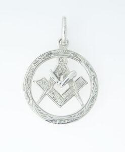 Vintage Sterling Silver Masonic Pendant