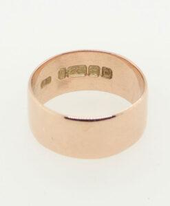 9ct Rose Gold Wedding Ring Band 8mm