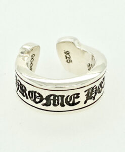 Chrome Hearts Scroll Label Ring